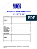 Guidelines for Assessing Rational Designs - July 2010 - Final Checklist