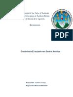 Crecimiento Ec. Centro America