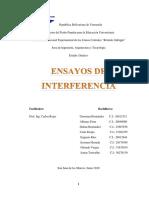 Caracterización Dinámica - Ensayos de Interferencia