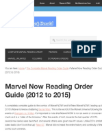 Marvel NOW! Reading Order List | New Reader Friendly! | Comic Book Herald