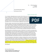 Scribd Letter to Prime Minister Boris Johnson Regarding Modern Applied Macroeconomics Book.