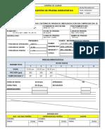 Registro Prueba Hidrostatica Condensados de Alta