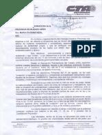Nota de ATE a Vidal