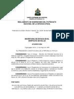 Reglamento de Inversiones Del Patronato Nacional de La Infancia