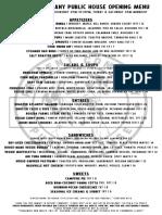 Present Company menu