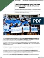 La CIDH Elevó a 328 La Cifra de Muertos Por La Represión en Nicaragua y Denunció Que Hay Más de 120 Presos Políticos