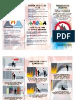 Folleto - Prevencion de Incendios