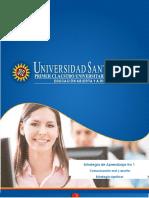 Estrategia de Aprendizaje 1 Comunicación Oral y Escrita