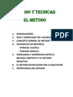Metodo y Tecnicas