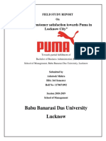 A Study Customer Satisfaction Towards Puma in Lucknow City Ty