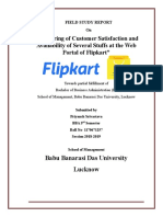 Measuring of Customer Satisfaction and Availability of Several Staffs at the Web Portal of Flipkart