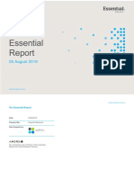 Essential Report, Australian survey, 8 August 2019