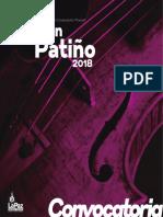 Convocatoria Adrian Patiño 2018