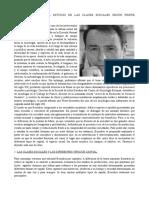 ApC - El Estudio de Las Clases Sociales Según Pierre Bourdieu.