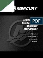 4.3/5.0 MPI SeaCore ECT Mercury Manual