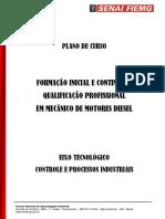 Plano de Aula Qualificação Motor Diesel