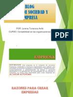 Blog Tipos de Sociedades y Empresa Powerpoint