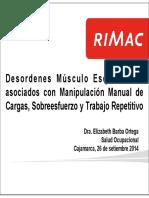 Desordenes Musculo Esqueleticos Asociados Con Manipulacion Manual de Cargas Sobre Esfuerzo y Trabajo Repetitivo