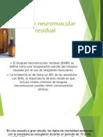 BNM residual ANESTESIOLOGIA