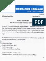 Secrétariat National PDS 2019