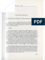 Pier Francesco Bellinello - Minoranze etniche e linguistiche