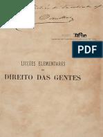 SOUZA, João Silveira. - Licçoes Elementares de Direito Das Gentes (Reduzido)