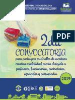 2da Convocatoria Curso-Taller Escritura Creativa _Modalidad Cuento - 2019