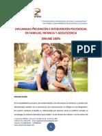 2019 - Diplomado Prevención e Intervención Psicosocial en Familias, Infancia y Adolescencia