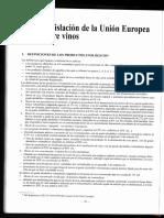 legislación de la Unión Europea de vinos
