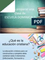 Como preparar clases de escuela dominical