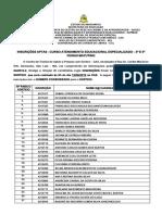 Resultado - Curso de Atendimento Educacional Especializado – 3ª e 5ª Feiras Matutino