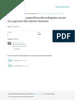 Competencias Especificas del trabajador social en la gestión del talento humano