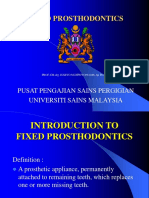 Gtc 1 - Introduction to Fixed Prosthodontics (Ppsg Lectures)