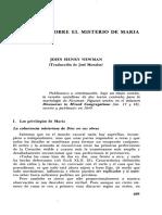 Meditación Sobre El Misterio de María Newman John Henri