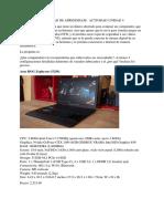 actividad arquitectura de computadores