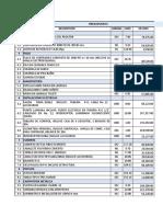 Presupuesto Terminacion de Infraestructura-2019 Crono y Ff