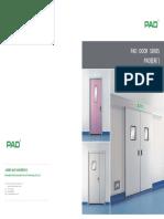 PAD Hermetical Automaic Door Catalogue