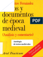 Emilio Mitre Fernández, Textos y documentos de época medieval