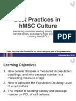 6.5.2014 Best Practices in HMSC Culture - PDL vs Passage Number (1)
