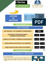 Attitude vs. Behaviour