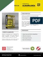 cemento inka amarillo albañileria