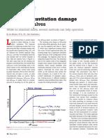 Prediction cavitation damage