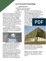 advances in Concrete Technology