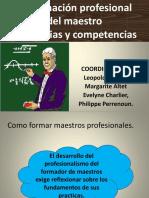 la formacion profesional de los maestros