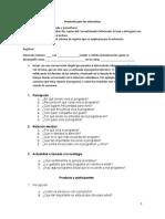 Protocolo Para Las Entrevistas