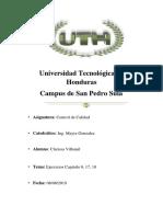 Antonio Chavez Control de Calidad II Tarea 3 Parcial 3 UTH
