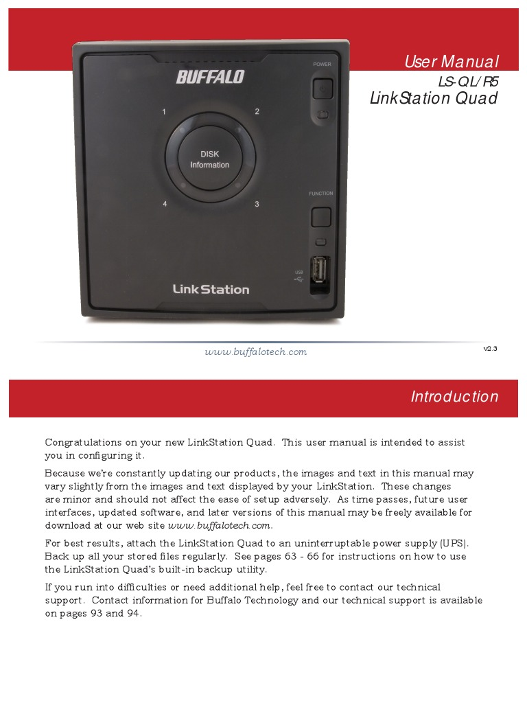 Buffalo Ls ch500l User manual