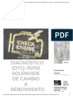 Código de Problema de Diagnóstico (DTC)_ P0751 Solenoide de Cambio a Rendimiento o Atascado _ 1-2 Válvula de Solenoide de Cambio Rendimiento _ 2018 _ Artículos