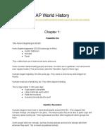 AP WORLD Collaborative Notes