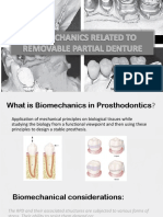 Biomechanics in Removable Partial Denture